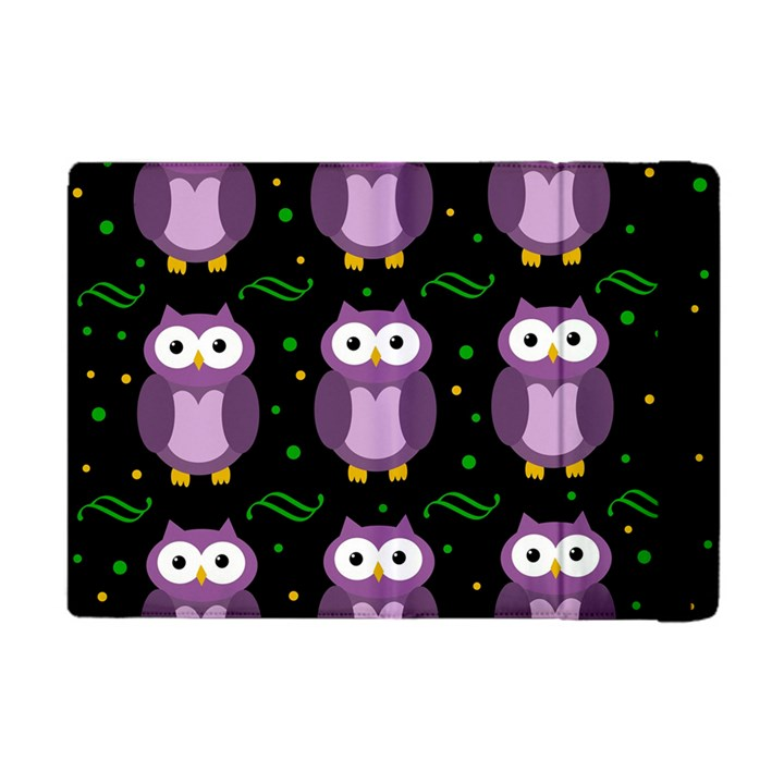 Halloween purple owls pattern Apple iPad Mini Flip Case