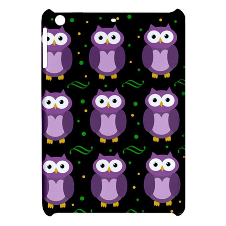 Halloween purple owls pattern Apple iPad Mini Hardshell Case