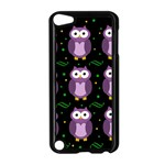 Halloween purple owls pattern Apple iPod Touch 5 Case (Black)