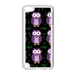 Halloween purple owls pattern Apple iPod Touch 5 Case (White) Front