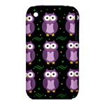 Halloween purple owls pattern Apple iPhone 3G/3GS Hardshell Case (PC+Silicone)