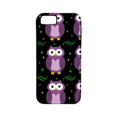 Halloween Purple Owls Pattern Apple Iphone 5 Classic Hardshell Case (pc+silicone) by Valentinaart