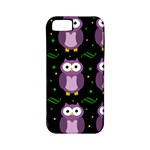 Halloween purple owls pattern Apple iPhone 5 Classic Hardshell Case (PC+Silicone)