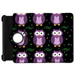 Halloween purple owls pattern Kindle Fire HD Flip 360 Case