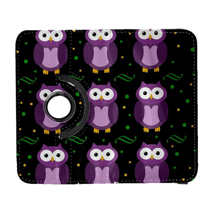 Halloween purple owls pattern Samsung Galaxy S  III Flip 360 Case