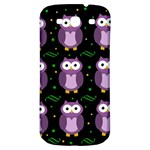 Halloween purple owls pattern Samsung Galaxy S3 S III Classic Hardshell Back Case Front