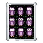 Halloween purple owls pattern Apple iPad 3/4 Case (White) Front