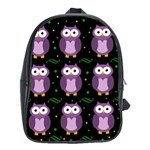 Halloween purple owls pattern School Bags (XL)