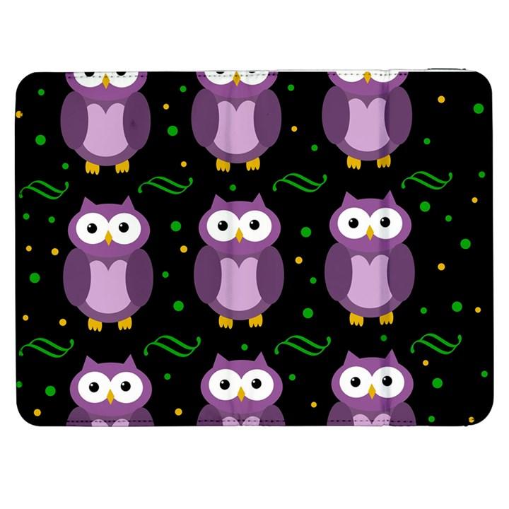 Halloween purple owls pattern Samsung Galaxy Tab 7  P1000 Flip Case