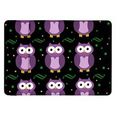 Halloween Purple Owls Pattern Samsung Galaxy Tab 8 9  P7300 Flip Case