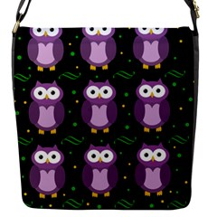Halloween Purple Owls Pattern Flap Messenger Bag (s)