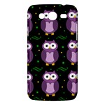 Halloween purple owls pattern Samsung Galaxy Mega 5.8 I9152 Hardshell Case