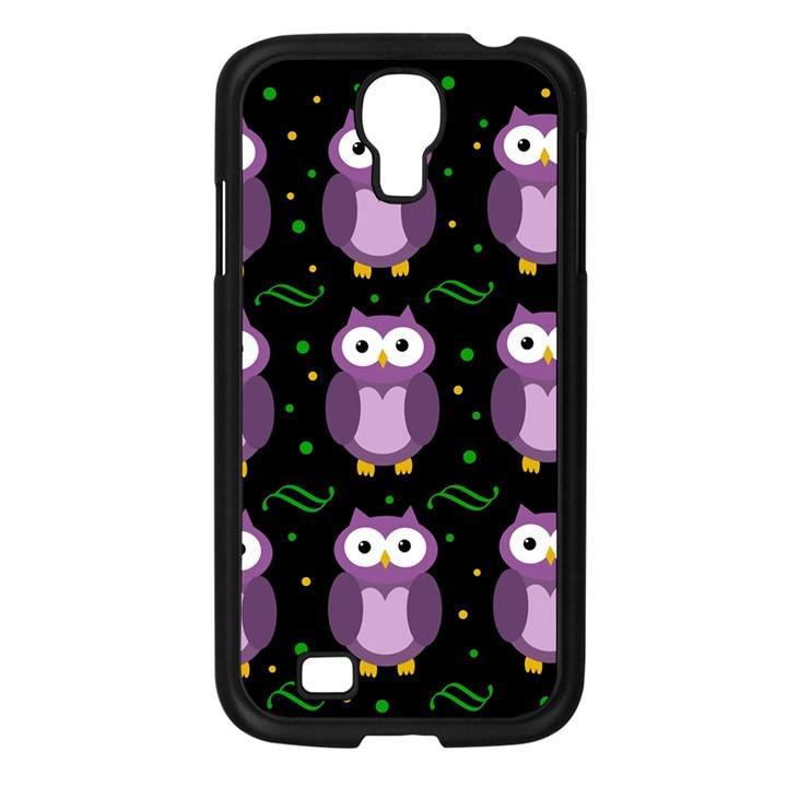 Halloween purple owls pattern Samsung Galaxy S4 I9500/ I9505 Case (Black)