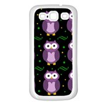 Halloween purple owls pattern Samsung Galaxy S3 Back Case (White)
