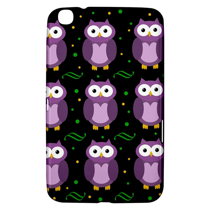 Halloween purple owls pattern Samsung Galaxy Tab 3 (8 ) T3100 Hardshell Case