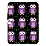 Halloween purple owls pattern Samsung Galaxy Tab 3 (10.1 ) P5200 Hardshell Case