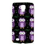 Halloween purple owls pattern Galaxy S4 Active