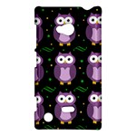 Halloween purple owls pattern Nokia Lumia 720