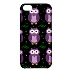 Halloween purple owls pattern Apple iPhone 5C Hardshell Case