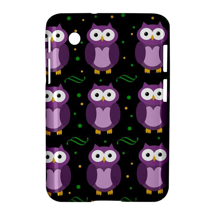 Halloween purple owls pattern Samsung Galaxy Tab 2 (7 ) P3100 Hardshell Case