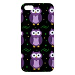 Halloween purple owls pattern iPhone 5S/ SE Premium Hardshell Case