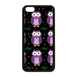 Halloween purple owls pattern Apple iPhone 5C Seamless Case (Black)