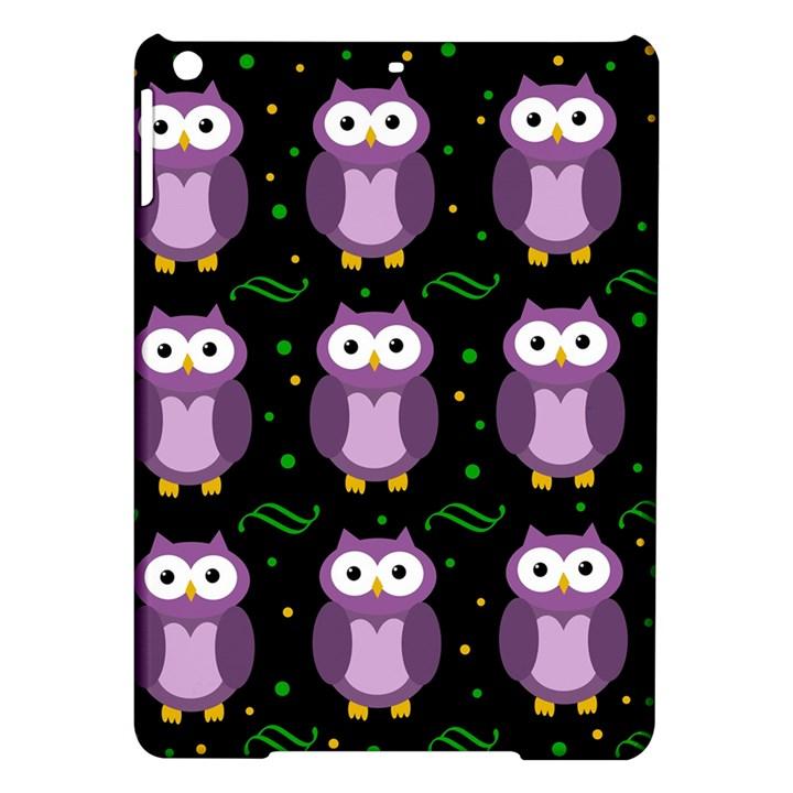 Halloween purple owls pattern iPad Air Hardshell Cases
