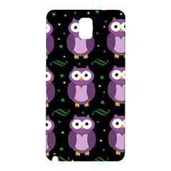 Halloween Purple Owls Pattern Samsung Galaxy Note 3 N9005 Hardshell Back Case