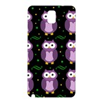Halloween purple owls pattern Samsung Galaxy Note 3 N9005 Hardshell Back Case