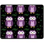 Halloween purple owls pattern Double Sided Fleece Blanket (Medium)  58.8 x47.4 Blanket Back