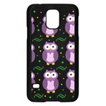 Halloween purple owls pattern Samsung Galaxy S5 Case (Black)