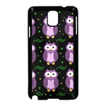 Halloween purple owls pattern Samsung Galaxy Note 3 Neo Hardshell Case (Black)