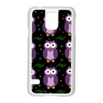 Halloween purple owls pattern Samsung Galaxy S5 Case (White)