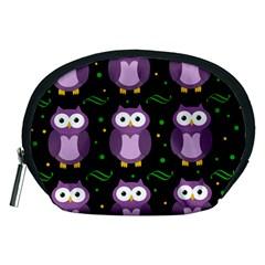 Halloween purple owls pattern Accessory Pouches (Medium)