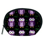 Halloween purple owls pattern Accessory Pouches (Medium)