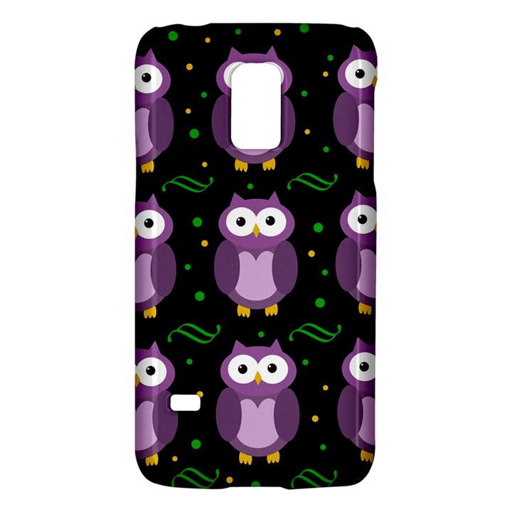 Halloween purple owls pattern Galaxy S5 Mini