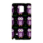 Halloween purple owls pattern Samsung Galaxy Note 4 Hardshell Case