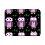 Halloween purple owls pattern Double Sided Flano Blanket (Mini)