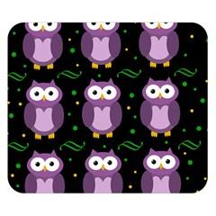 Halloween purple owls pattern Double Sided Flano Blanket (Small)