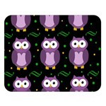 Halloween purple owls pattern Double Sided Flano Blanket (Large)  80 x60 Blanket Front