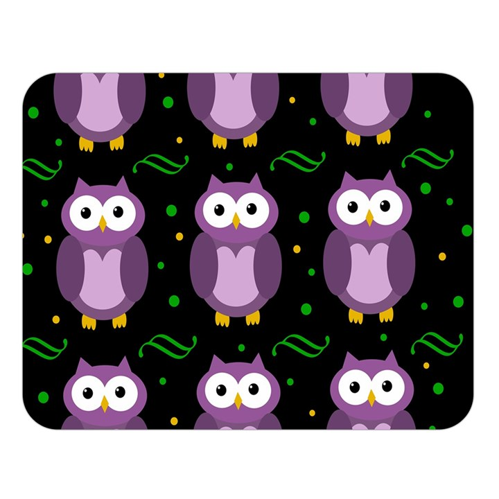 Halloween purple owls pattern Double Sided Flano Blanket (Large)