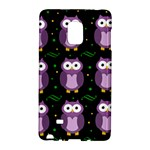 Halloween purple owls pattern Galaxy Note Edge
