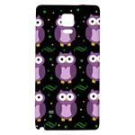 Halloween purple owls pattern Galaxy Note 4 Back Case