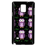 Halloween purple owls pattern Samsung Galaxy Note 4 Case (Black) Front