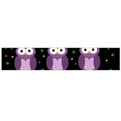 Halloween Purple Owls Pattern Flano Scarf (large)