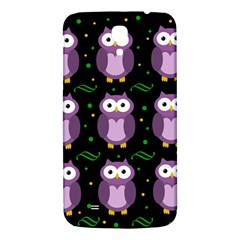 Halloween Purple Owls Pattern Samsung Galaxy Mega I9200 Hardshell Back Case