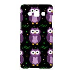 Halloween purple owls pattern Samsung Galaxy A5 Hardshell Case