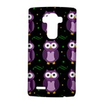 Halloween purple owls pattern LG G4 Hardshell Case
