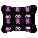Halloween purple owls pattern Jigsaw Puzzle Photo Stand (Bow)