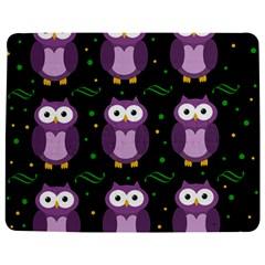 Halloween purple owls pattern Jigsaw Puzzle Photo Stand (Rectangular)